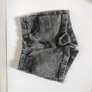 Gray American Apparel Jean Shorts